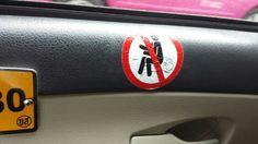 """No farting"". Sign inside a Bangkok cab (Courtesy Abhijeet Powdwal)"