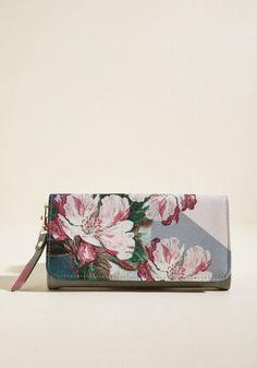 Womans Floral Print Wallet