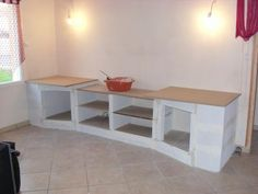 Faire sa cuisine en siporex diy kitchen id e maison - Cuisine en siporex photos ...