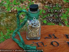 EARTH ELEMENTAL Witch Bottle 2oz For Elemental Honouring, Spellcraft, Watchtower Magick, Sacred Offerings, Witchcraft, Spirit Calling by DewberrysHerbal on Etsy