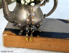 Strass Perlen und Pyrit baumeln Ohrringe...Downton von simplymeart