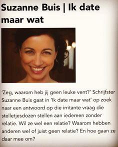 'Daten? Lekker zelf weten!' Interactieve presentatie door Suzanne Buis Zondag 27 aug 13 u, OBA (Centrale bieb bij CS) @Uitmarkt Amsterdam Gratis! #liefde #single #relaties #love