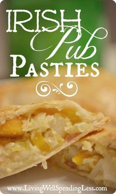 Irish Pub Pasties--a perfect easy recipe for St. Patrick's Day that the whole family will love!