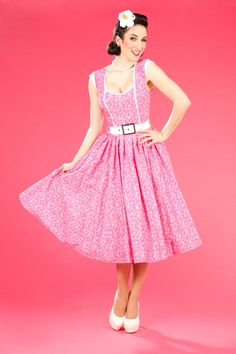 Miss Candyfloss Alexa Connie Floral 50's Dress $79