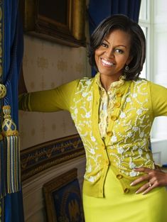First Lady Michelle ~love this yellow