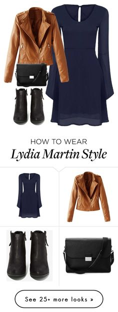 """""""Lydia Martin Inspired School Outfit"""" by staystronng on Polyvore featuring WithChic, N.Y.L.A., Aspinal of London, school, TeenWolf, LydiaMartin and tw"""