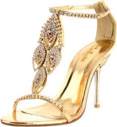 Celeste Women's Crystal-05 Ankle-Strap Sandal