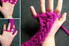 Tricoter avec les doigts!