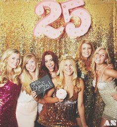 Glittery Golden 25th Birthday Party