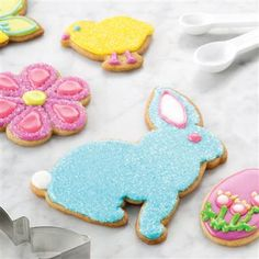 Spiced Springtime Sugar Cookies! From bunnies to butterflies, these cute cookies are sure to please.