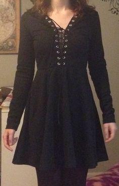 Shop Black Lace Up Neck Flare Dress online. SheIn offers Black Lace Up Neck Flare Dress & more to fit your fashionable needs.