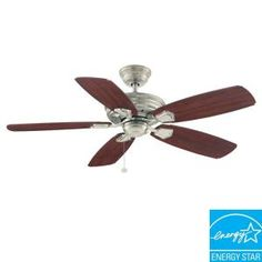 Hampton Bay Heirloom 52 in. Outdoor Oil Rubbed Bronze Ceiling Fan-51218 at The Home Depot. $100