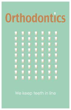 Orthodontics 11x17 minimalism poster print - Graduation, Teacher Gifts - Home & Dorm Decor