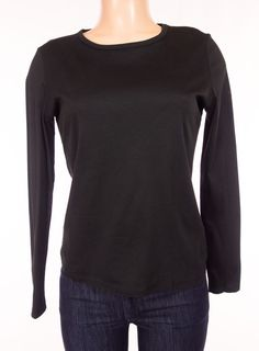 CHANEL Uniform Long Sleeve Top S Small Black Make Up Shirt CC Logo Employee #CHANEL #KnitTop #Career