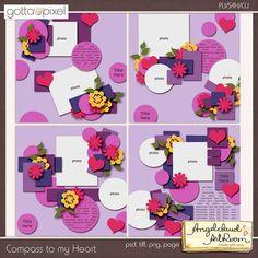 Compass to my Heart Digital Scrapbook Templates at Gotta Pixel. www.gottapixel.net/