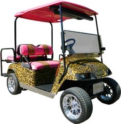 Vegas Strip Leopard Print Custom Golf Cart -  $5,900.00 Used Golf Carts, Golf Carts For Sale, Custom Golf Carts, Electric Golf Cart, Vegas Strip, Girl House, My Ride, Sydney, Vehicles