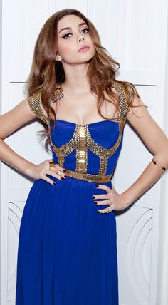 Bright Blue & Gold Gown