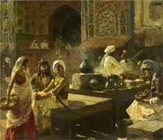 Edwin Lord Weeks - An Open Air Kitchen, Lahore, India