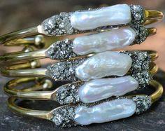 Personalizzato oro bracciale bracciale perle Swarovski
