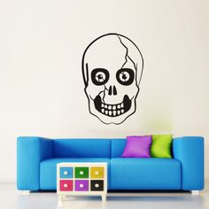 Halloween PVC Wall Stickers Skull Living Room Bedroom Decoration Wall Stickers
