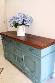 I Restore Stuff: Sideboard MMS Milk Paint Makeover = Happy Customer!