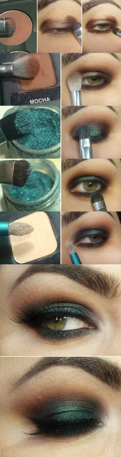 Adorable Brown and Green Makeup Tutorials # Step by Step / Best LoLus Makeup Fashion (Best Eyeshadow) Makeup Inspo, Makeup Inspiration, Makeup Tips, Makeup Tutorials, Style Inspiration, Make Up Designs, Green Makeup, Green Eyeshadow, Smokey Eyeshadow