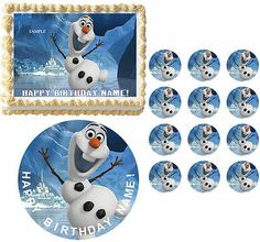 FROZEN OLAF Birthday Party Edible Cake Topper Frosting Sheet Image-All Sizes!