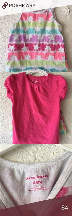 Little Girl's Tank Top and Short Sleeve Shirt Size 4T Garanimals Shirts & Tops Tees - Short Sleeve