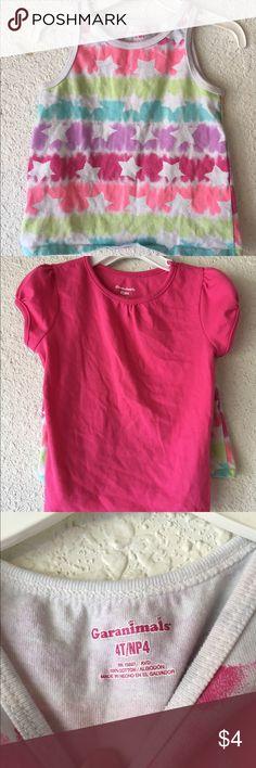 Little Girl's Tank Top and Short Sleeve Shirt Size 4T Garanimals Shirts & Tops Tees - Short Sleeve