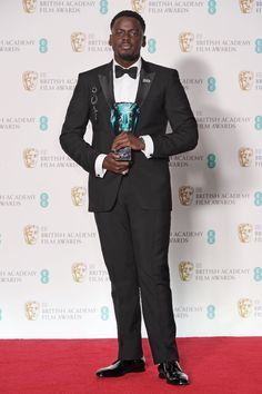 Daniel Kaluuya wearing Burberry at the 71st The British Academy Film Awards in London