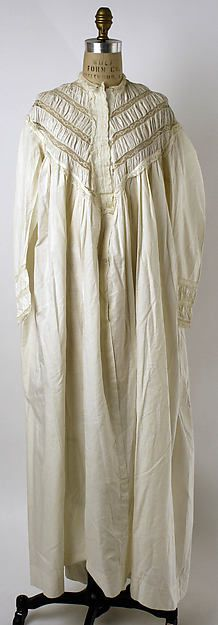 Nightgown 1860s