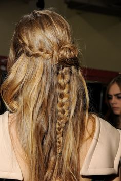 rodarte fall 2013 hair braid.