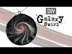 Polymer Clay Galaxy Swirl Jewelry - YouTube