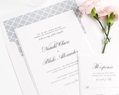 """""""Nothing says elegance like the classic script font on these simple yet stunning wedding invitations! Click the link in our profile for a free sample of…"""""""