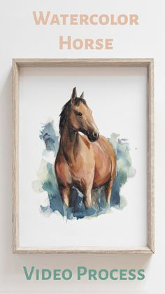 Painting a horse with watercolors. Horse Drawings, Art Drawings Sketches, Animal Drawings, Watercolor Horse, Watercolor Animals, Horse Canvas Painting, Canvas Art, Art Drawings Beautiful, Art Folder