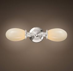 RHu0027s Vintage English Oval Double Sconce:Recalling The Light Focusing  Designs Of Early Task