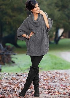 CowL Neck Cable trim sweater so COZY I WANT THIS 4 Winter!! Im gettin it.. thats it.. lol