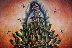 LA VIRGEN DE GUADALUPE/ Our Lady of Guadalupe~ Art by David Mercado's Virgen de Guadalupe