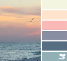 A lovely color group as an alternative to the usual beachy turquoise and coral!!