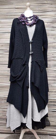* ZUZA BART * дизайн ручная работа красивая вязка букле очень длинный кардиган * черный * Xxl   Одежда, обувь и аксессуары, Одежда для женщин, Топы и блузы   eBay!