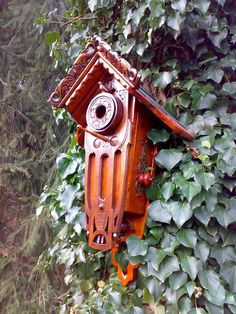 Amazing & far too beautiful to put outside: art deco birdhouse with antique items by karelsdingen on Etsy, via Etsy.
