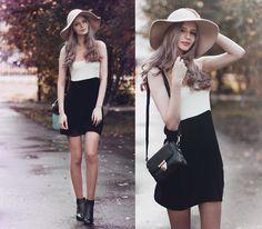 Get this look: http://lb.nu/look/7727650  More looks by Mary Volkova: http://lb.nu/shetneev  Items in this look:  Vintage Hat, Dressin Dress, Bag