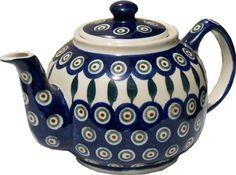 Polish Pottery Teapot From Zaklady Ceramiczne Boleslawiec