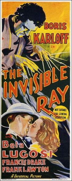 The Invisible Ray, 1936, with Boris Karloff and Bela Lugosi