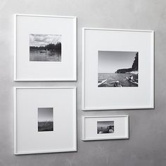 Shop gallery white 5x7 picture frame. Exhibit your favorite photos gallery-style. Creating a display of modern proportions, oversized white mat floats within a sleek frame of bright white aluminum.