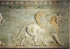 Frieze of griffins - Achaemenid Period - Reign of Darius, about 510 BC. Palace of Darius, Susa. Louvre museum