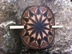 Geometric carved hair barrette  Hair accessories
