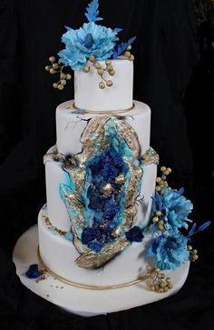svatební dort s kameny - Cake by matahary Diy Wedding, Wedding Cakes, Dream Wedding, Couture Cakes, Beautiful Dream, Pretty Cakes, Cake Art, Cake Designs, Desserts