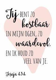 Prachtig dat God dat steeds doorbrengt wat je ook doet en wie je ook bent. Ik houd van jou klinkt hier zo mooi in door. En dat mogen wij elkaar doorgeven. Bible Qoutes, Faith Quotes, Words Quotes, Best Quotes, Love Quotes, Inspirational Quotes, Joelle, Dutch Quotes, Journaling