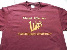 Gilmore Girls Luke's Diner T Shirt Tee Meet Me At Screen Print Stars Hollow Connecticut Lorelai Rory Lane Luke Emily Richard